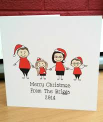 10 christmas family caricature personalised christmas cards