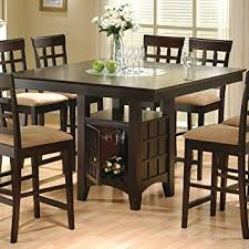 Amazoncom Coaster Hyde Counter Height Square Dining Table With - Amazon kitchen tables