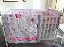 rabbit crib bedding new applique embroidered rabbits baby crib cot bedding set quilt