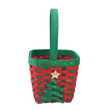 baskets small christmas tree woven basket by ashland front