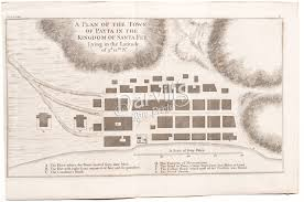 anson s voyage around the world original charts maps views a plan of the town of payta in the kingdom of santa fee
