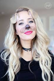 Makeup For Halloween Costumes by Best 25 Dog Makeup Ideas On Pinterest Cheetah Costume Dog Face