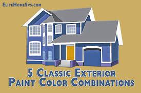 Home Color Combination Classic Exterior Paint Color Combinations