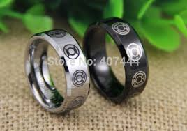 green lantern wedding ring free shipping ygk jewelry hot sales 8mm black silver beveled green