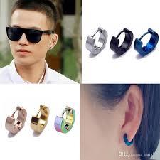 boy earrings 2018 wholesale 2016 brand new colorful titanium steel earrings
