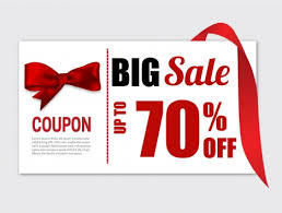 ribbon on sale big sale coupon banner with knot ribbon vectors stock in format