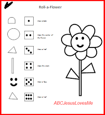 roll a flower game can be a group game visual perceptual first