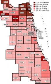chicago zip code map uiuc study cabdrivers near the margins of economic failure