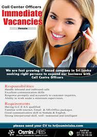 Job Description Call Center Call Center Officers Eazyjobs