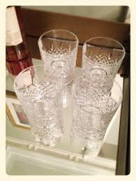 Atlantis Crystal Vase Highball Glass Tumbler Atlantis Crystal Lyric Pattern Atlantis