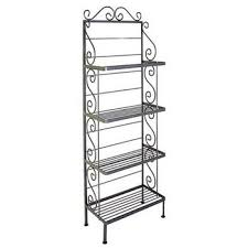 Bakers Rack With Doors Wrought Iron Bakers Racks With Shelves Of Wood Wire Or Glass