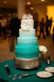 tiffany blue wedding cake with precious moments cake topper