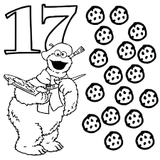 number 17 coloring page getcoloringpages com