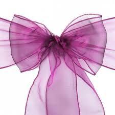 organza sashes sash purple wine 10 pack