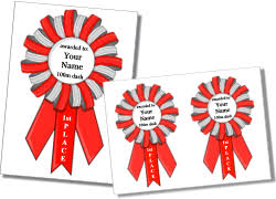 printable ribbon printable award ribbon templates