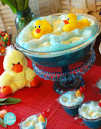 rubber ducky themed baby shower rubber duck punch recipe for baby showers digger