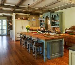 rustic modern kitchen with antique look interior design ideas