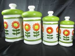 green canister sets kitchen best 25 vintage canisters ideas on vintage kitchen