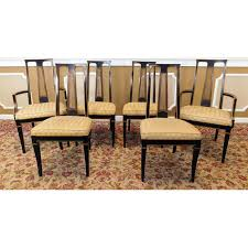 Drexel Heritage Dining Room Chairs 1980s Drexel Heritage Et Cetera Asian Style Black Lacquered Dining