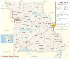 California Map With Cities Missouri Map Free Large Images