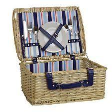 Picnic Basket Set Picnic Hamper Set Ebay