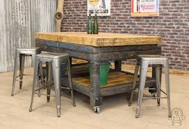 kitchen island vintage industrial kitchen island with seating derektime design design