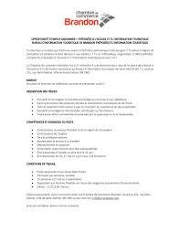 bureau d emploi offre d emploi bureau d information touristique secteur brandon