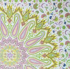 indian peacock mandala hippie bohemian double duvet cover