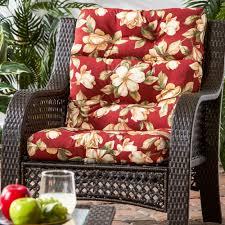 Chair Cushions Kohls Home Fashions Outdoor High Back Chair Cushion