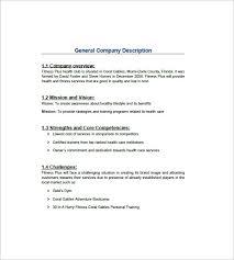gym business plan template u2013 10 free word excel pdf format