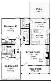 Bedroom Floor Plan With Measurements 1000 Sq Ft House Plans Bedrooms 2 Baths Square Feet 1191