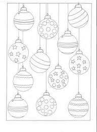 christmas ornament coloring pages printable download free