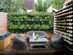 outdoor urban garden with vertical planters awesome outdoor