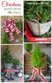 simple christmas front porch decorating ideas postcards from the