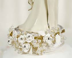 pearl cake topper vintage pearl wedding cake topper