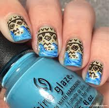 moana inspired nail art 25 sweetpeas