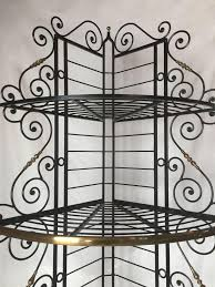 Cheap Bakers Rack Furniture Brass And Iron Corner Bakers Rack With Vintage French