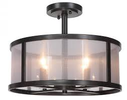 4 Light Semi Flush Ceiling Fixture by Craftmade 36754 Mbk 4 Light Semi Flush Amazon Com