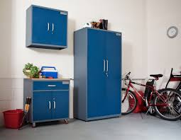 metal garage storage cabinet in blue for wall roller and tall
