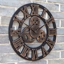horloges cuisine taille 45 cm matériel bois horloge murale pendule murale