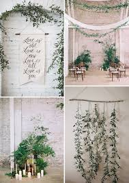 wedding backdrop greenery the new rustic herb greenery wedding decoration ideas herb