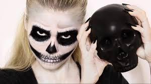 Halloween Skull Makeup Tutorial Easy Skull Makeup Tutorial Halloween Youtube