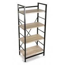 etagere metal etagere metal noir bois 4 niveaux versa 20880011