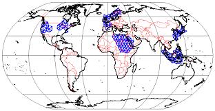 map using coordinates world maps