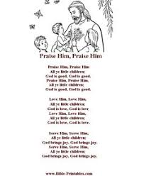 a list of the best preschool bible songs including words and actions