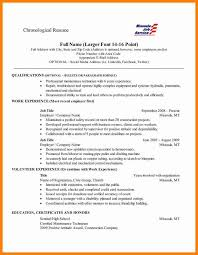 Reverse Chronological Order Resume Example by 7 Resume Chronological Order Autobiography Format