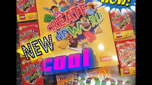 new lego create the world book and cards collectors edition
