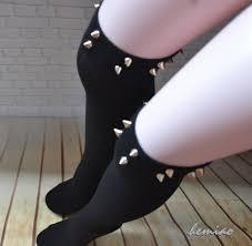 sale spiked knee high boot socks studded socks studdes