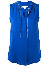 michael kors blouses discounted michael michael kors womens collar chain sleeveless top