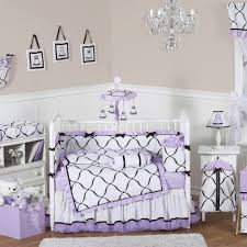 Purple Bedding For Cribs Decorating Ideas Using Rectangular White Rugs And